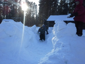 Nothing like a well built snow fort!